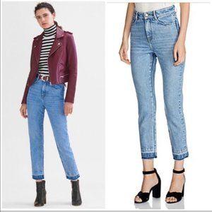 Maje Parazar High Rise Release Hem Jeans Size 36